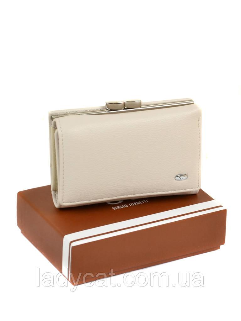 Жіночий гаманець з шкірозамінника SERGIO TORRETTI W11 beige