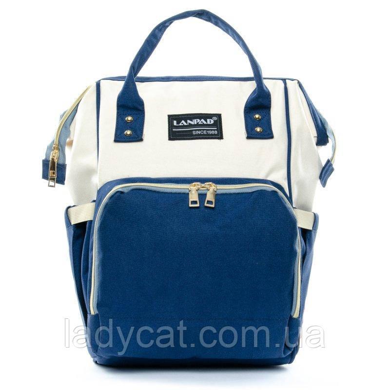 Женский рюкзак Lanpad D900 blue white