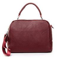 Женская сумка из натуральной кожи 8731-9 wine-red
