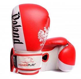 Боксерські рукавички PowerPlay Poland червоні 12 унцій 3021-2 SKL24-238243