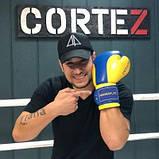 Боксерські рукавиці PowerPlay 3021 Ukraine Синьо-Жовті 16 унцій SKL24-252436, фото 6