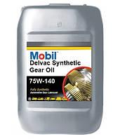 Масло трансмісійне Mobil Delvac Synthetic Gear Oil 75W-140 каністра 20л