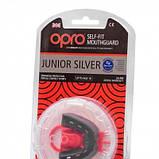 Капа Opro Junior Silver Black-Red SKL24-277191, фото 5
