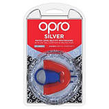 Капа Opro Silver Red-Blue SKL24-277205, фото 5