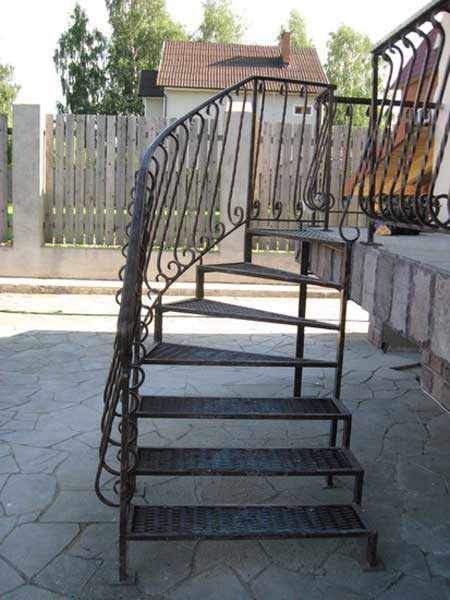 Гвинтові сходи металеві ковані