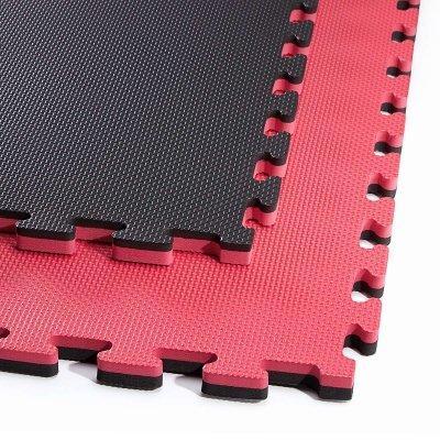 Мат-пазл ласточкин хвост 4FIZJO Mat Puzzle Eva 100 x 100 x 2 cм Black/Red SKL41-277803