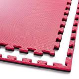 Мат-пазл ласточкин хвост 4FIZJO Mat Puzzle Eva 100 x 100 x 2 cм Black/Red SKL41-277803, фото 3