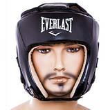 Боксерський шолом Everlast Flex L чорний SKL11-280821, фото 2