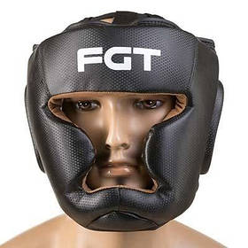 Боксерский шлем World Sport закрытый Fgt Flex M черный SKL11-280827