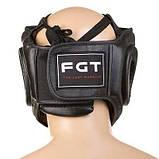 Боксерський шолом World Sport закритий Fgt Flex M чорний SKL11-280827, фото 2