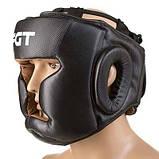 Боксерський шолом World Sport закритий Fgt Flex M чорний SKL11-280827, фото 3