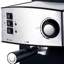 Кофемашина Espresso с капучинатором LEXICAL LEM-0602 850Вт полуавтомат, кофеварка для дома, фото 2