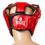 Боксерский шлем World Sport закрытый FireIce Flex S красный SKL11-280834, фото 3