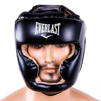 Боксерский шлем закрытый Everlast Flex M черный SKL11-280841