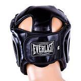 Боксерский шлем закрытый Everlast Flex M черный SKL11-280841, фото 2