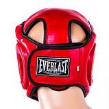 Боксерский шлем закрытый Everlast Flex S красный SKL11-280842, фото 3