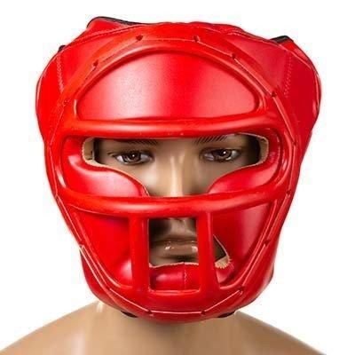 Боксерский шлем закрытый Everlast M красный SKL11-280855