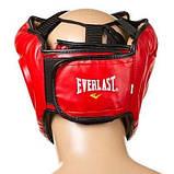 Боксерский шлем закрытый Everlast M красный SKL11-280855, фото 2