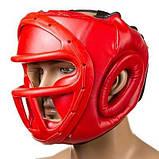 Боксерский шлем закрытый Everlast M красный SKL11-280855, фото 3