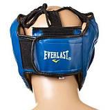 Боксерский шлем закрытый Everlast M синий SKL11-280857, фото 2