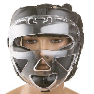 Боксерский шлем закрытый Everlast M черный SKL11-280858