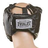 Боксерский шлем закрытый Everlast M черный SKL11-280858, фото 3