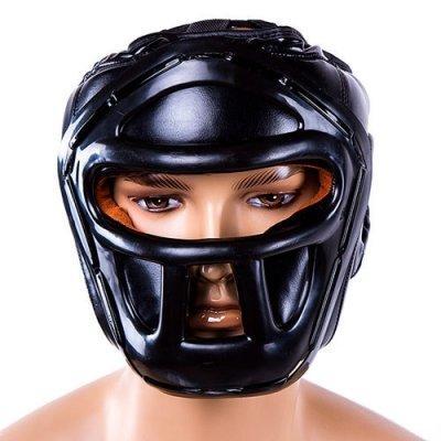 Боксерский шлем закрытый Everlast M черный SKL11-280859