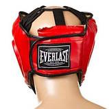 Боксерский шлем закрытый Everlast S красный SKL11-280860, фото 3