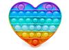 Pop It (поп ит) сенсорная игрушка антистресс, радужный сердце