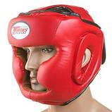 Боксерский шлем закрытый Twins M красный SKL11-280871, фото 4