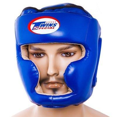 Боксерский шлем закрытый Twins M синий SKL11-280872