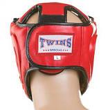 Боксерский шлем закрытый Twins XL красный SKL11-280877, фото 3