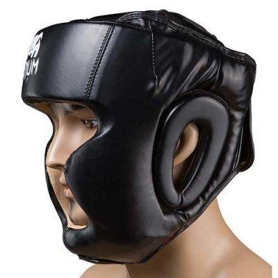 Боксерский шлем закрытый Venum Flex L черный SKL11-280879