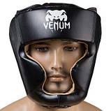Боксерский шлем закрытый Venum Flex L черный SKL11-280879, фото 2