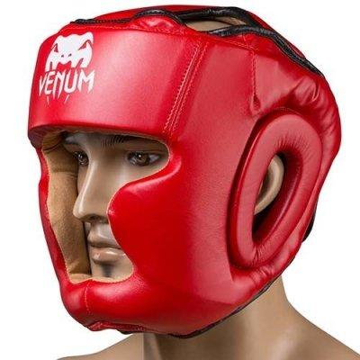 Боксерский шлем закрытый Venum Flex M красный SKL11-280880