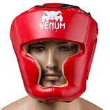 Боксерский шлем закрытый Venum Flex M красный SKL11-280880, фото 2