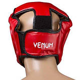 Боксерский шлем закрытый Venum Flex M красный SKL11-280880, фото 3