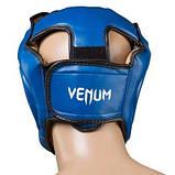 Боксерский шлем закрытый Venum Flex M синий SKL11-280881, фото 3