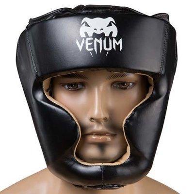 Боксерський шолом закритий Venum Flex M чорний SKL11-280882