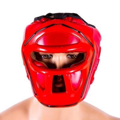 Боксерский шлем закрытый Venum S красный SKL11-280891