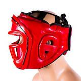 Боксерский шлем закрытый Venum S красный SKL11-280891, фото 3