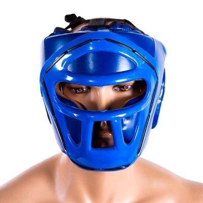 Боксерский шлем закрытый Venum S синий SKL11-280892
