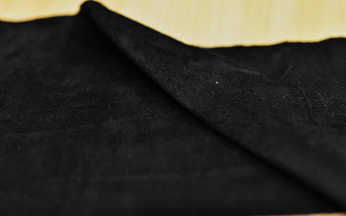 Искусственная замша черная, фото 2