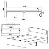Двоспальне ліжко Класика 160, фото 10