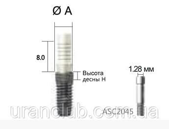 Абатмент ливарний SuperLine тимчасовий, пластмаса, без 6-ти гранника, діам = 4.5 мм, № RAB4520PNL
