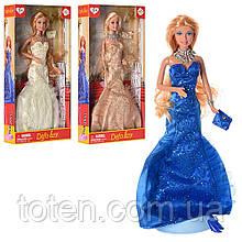 "Кукла Принцесса 30 см DEFA 8270 ""Светский раут"", сумочка, браслет, 3 цвета, в коробке"