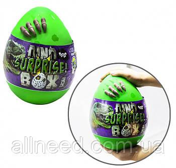 "Набор креативного творчества в яйце ""Dino Surprise Box"" DSB-01-01U, 15 предметов для творчества (Зеленый)"
