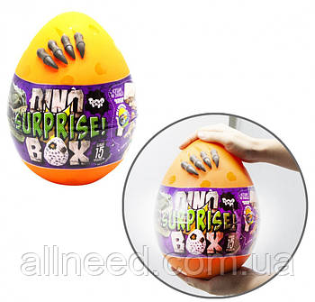 "Набор креативного творчества в яйце ""Dino Surprise Box"" DSB-01-01U, 15 предметов для творчества (Оранжевый)"
