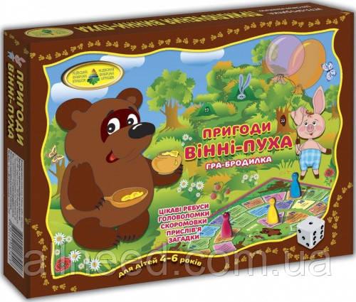 """Детская настольная игра-бродилка """"Приключения Винни-Пуха"""" 82418 от 4х лет"""