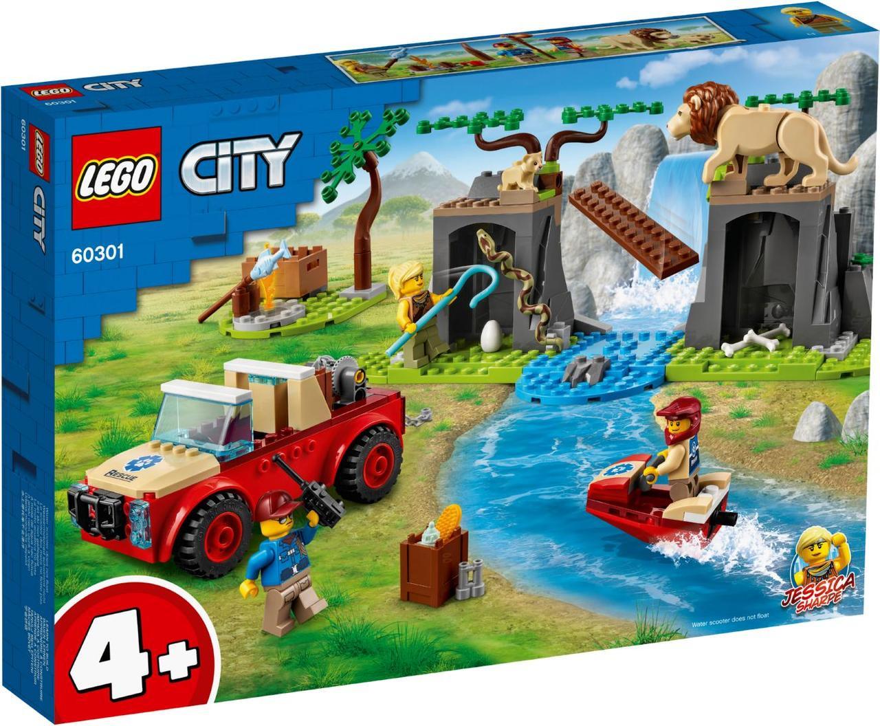 Lego City Спасательный внедорожник для зверей 60301